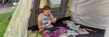 Vouwen op de camping